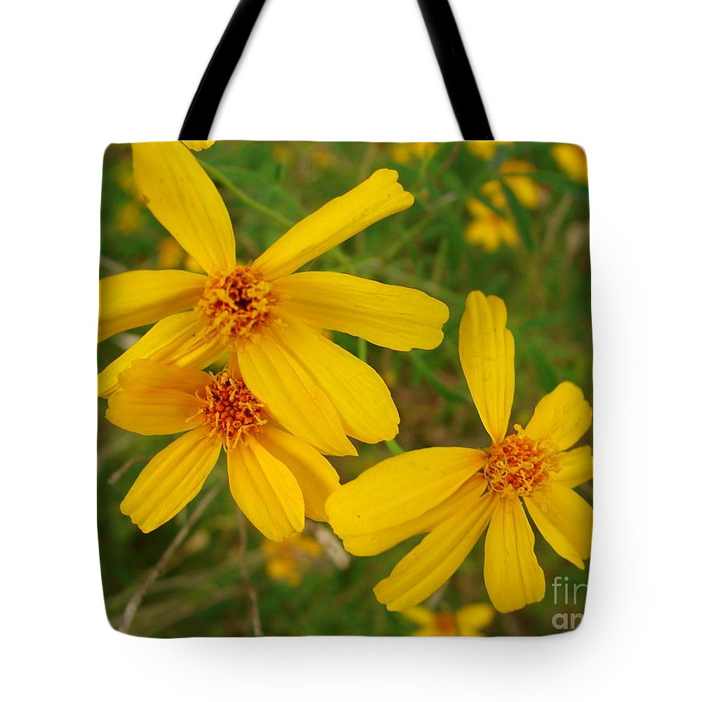 Flower Tote Bag featuring the photograph Three Times As Pretty by Lew Davis