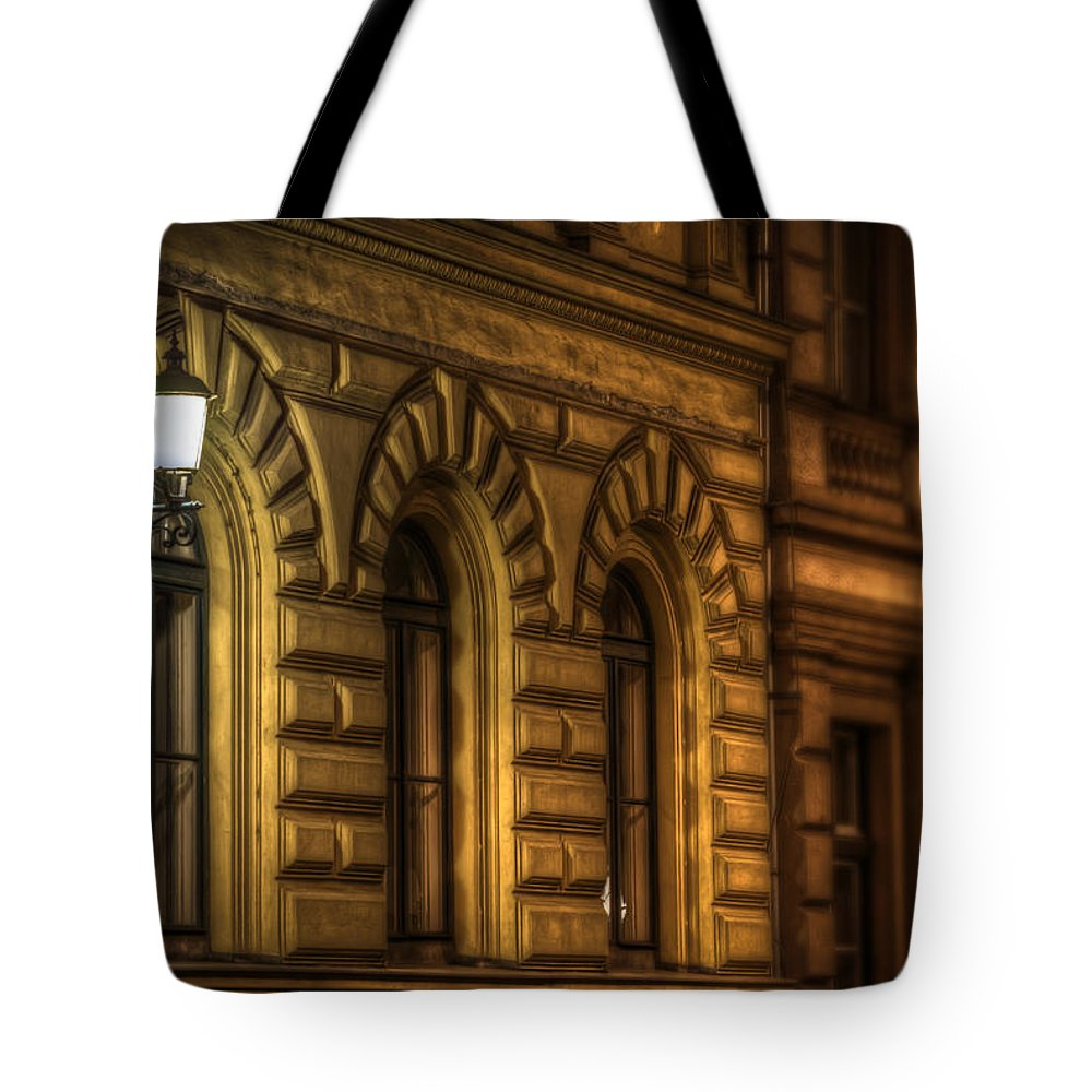 Travel Tote Bag featuring the digital art Three Windows Light by Nathan Wright