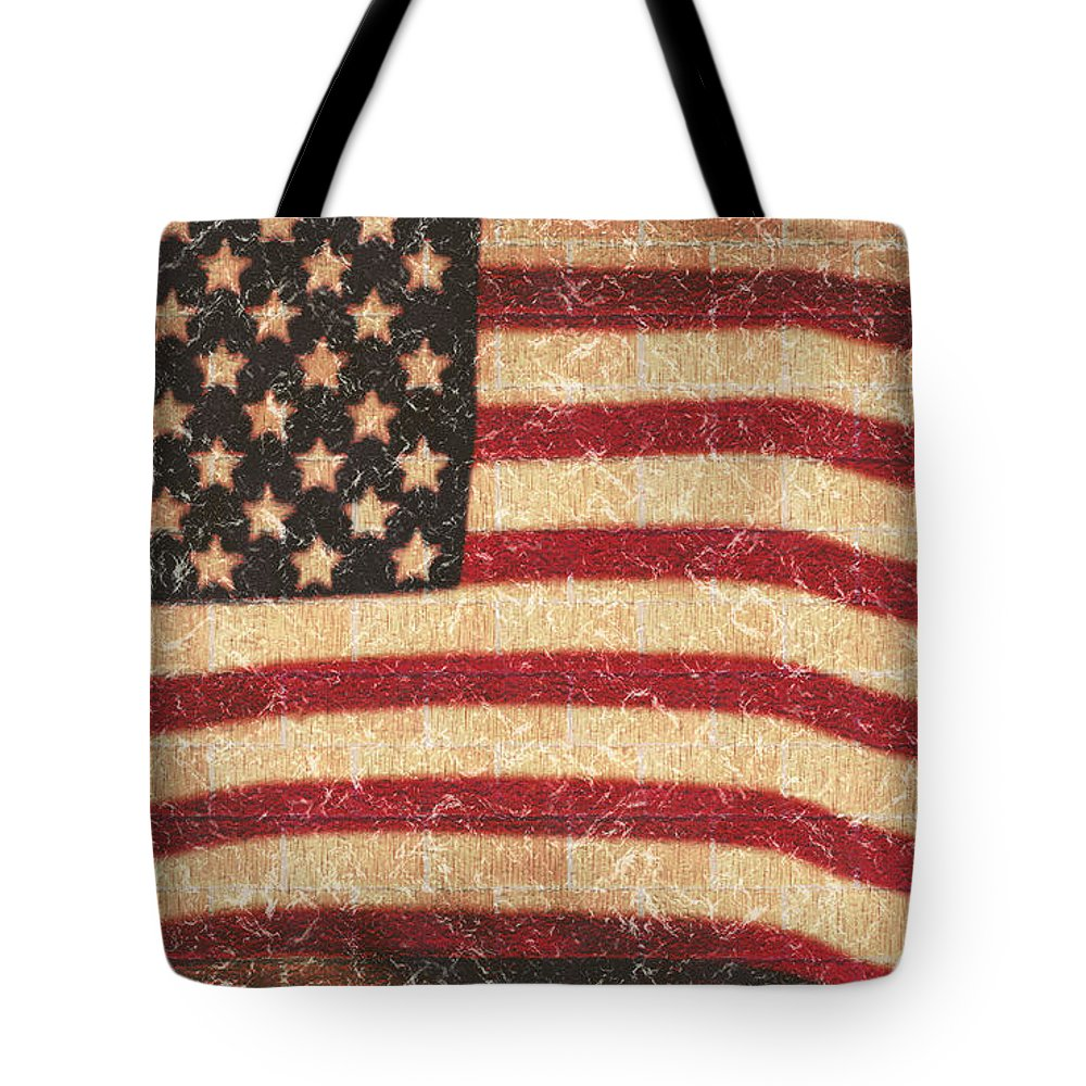 Flag Tote Bag featuring the photograph Through My Eyes by Janie Johnson