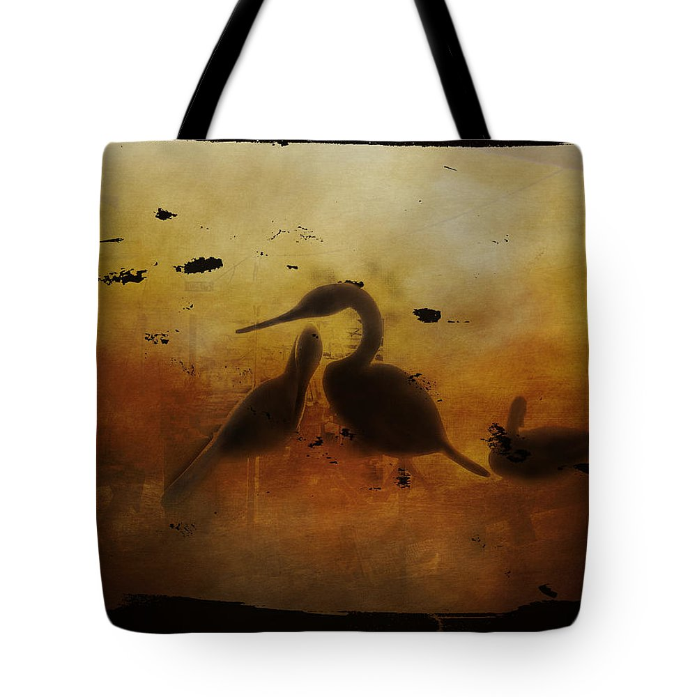Glass Tote Bag featuring the photograph Through Painted Glass by Judy Hall-Folde