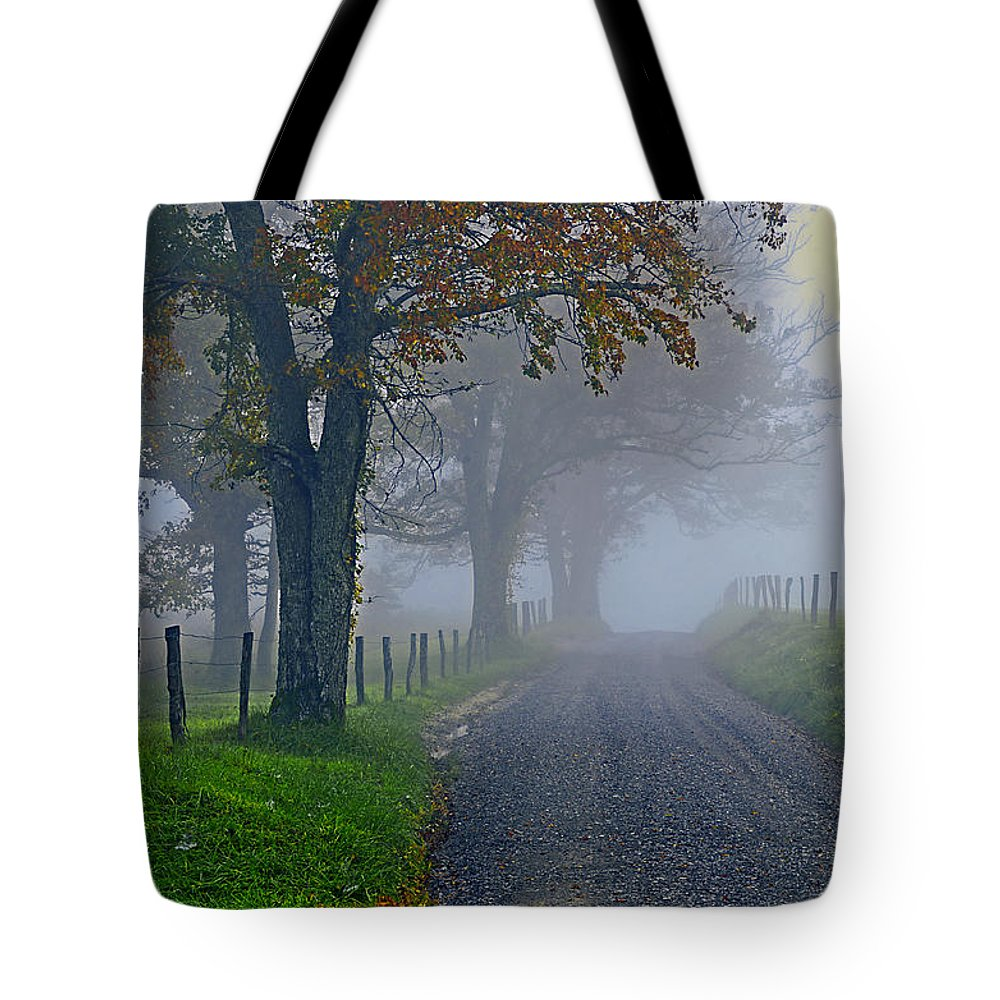 Fog Tote Bag featuring the photograph Through The Fog by Eric Albright