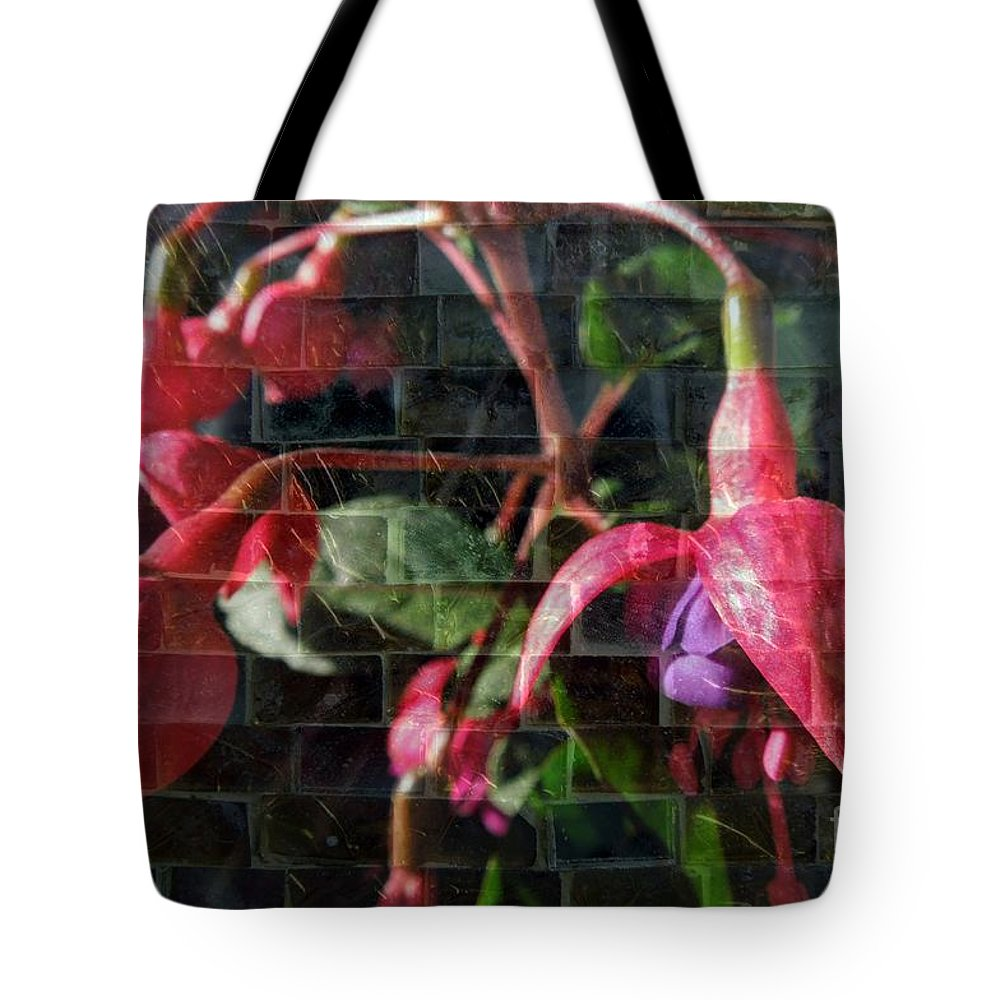 Funky Tote Bag featuring the photograph Through The Glass . Texture by Renee Trenholm