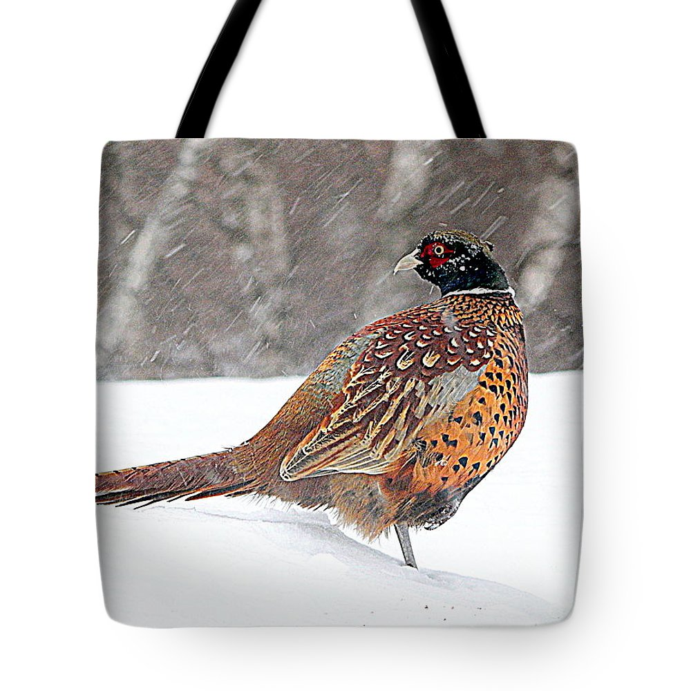 Through The Storm Tote Bag featuring the photograph Through The Storm by Karen Cook