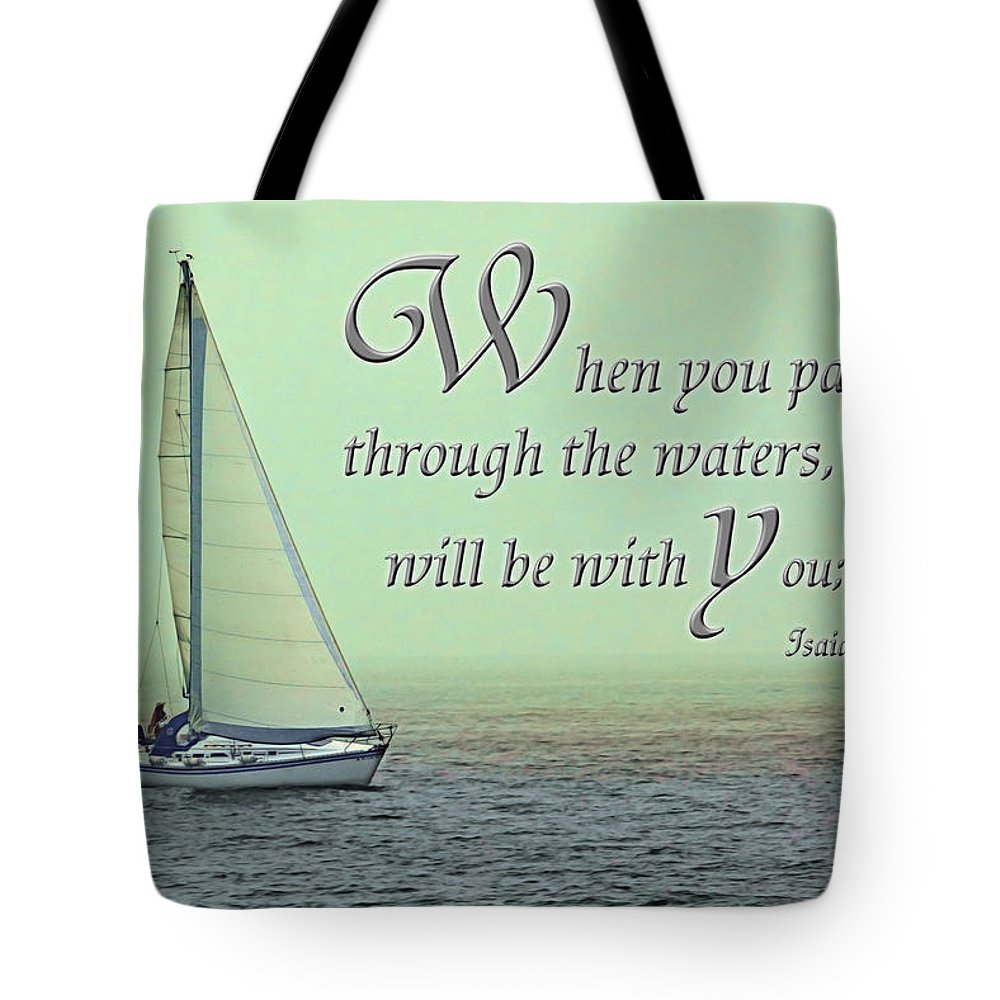Water. Sail Tote Bag featuring the photograph Through The Waters by Jayne Gohr