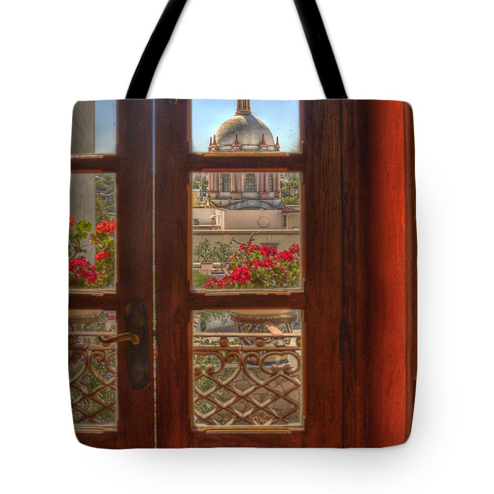 Mexico Tote Bag featuring the photograph Through The Window by Lindley Johnson