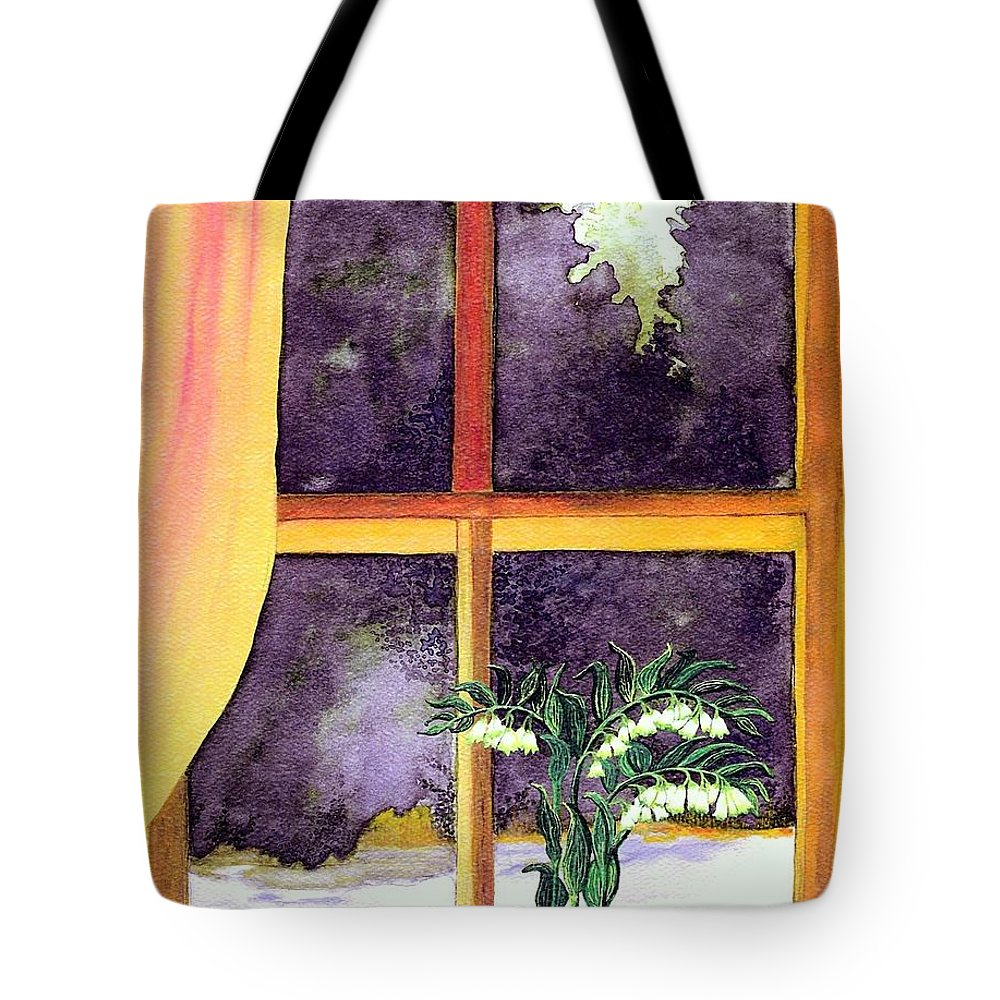 Fine Art Tote Bag featuring the painting Through The Window by Patricia Griffin Brett