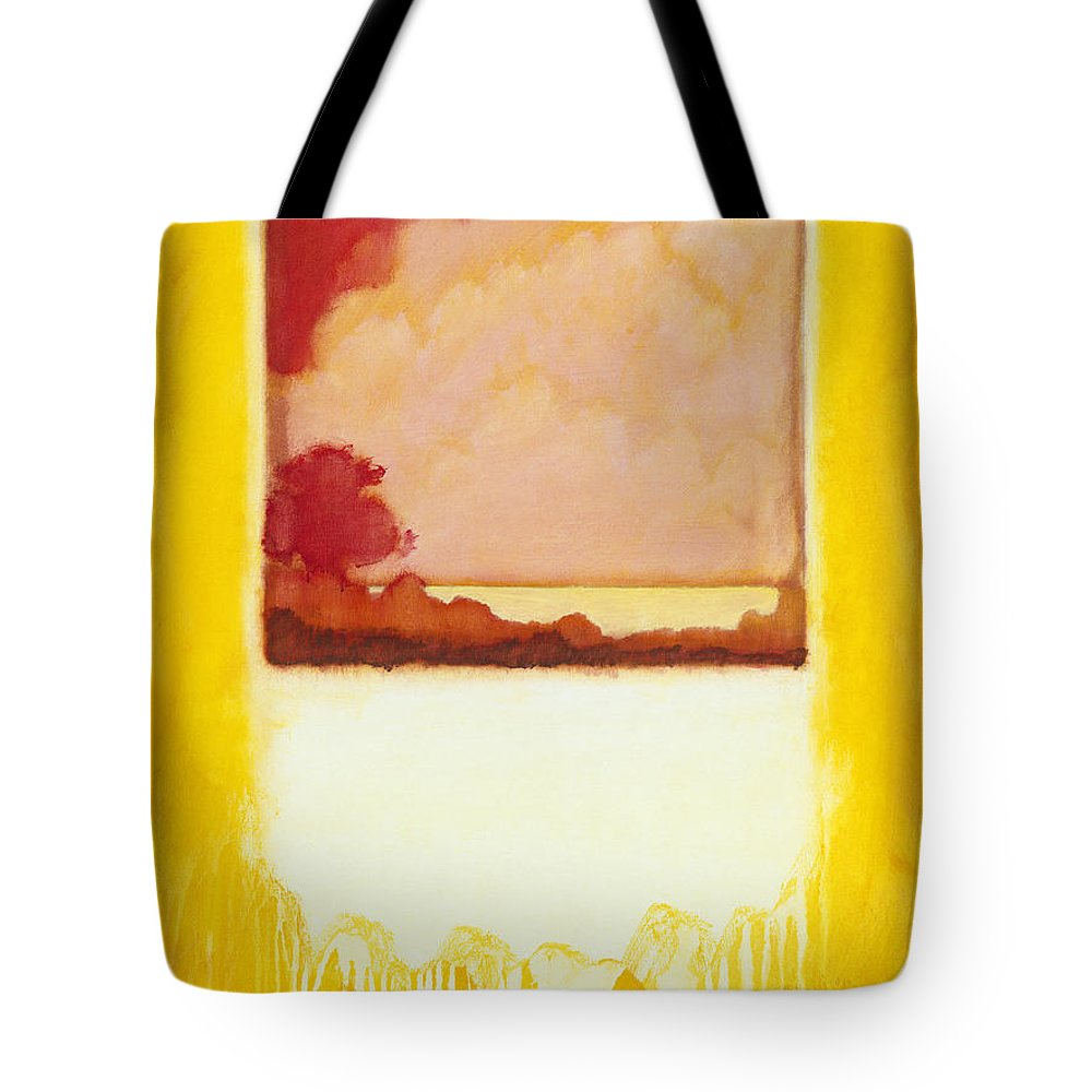 Tote Bag featuring the painting Thru The Looking Glass by Jerome Lawrence