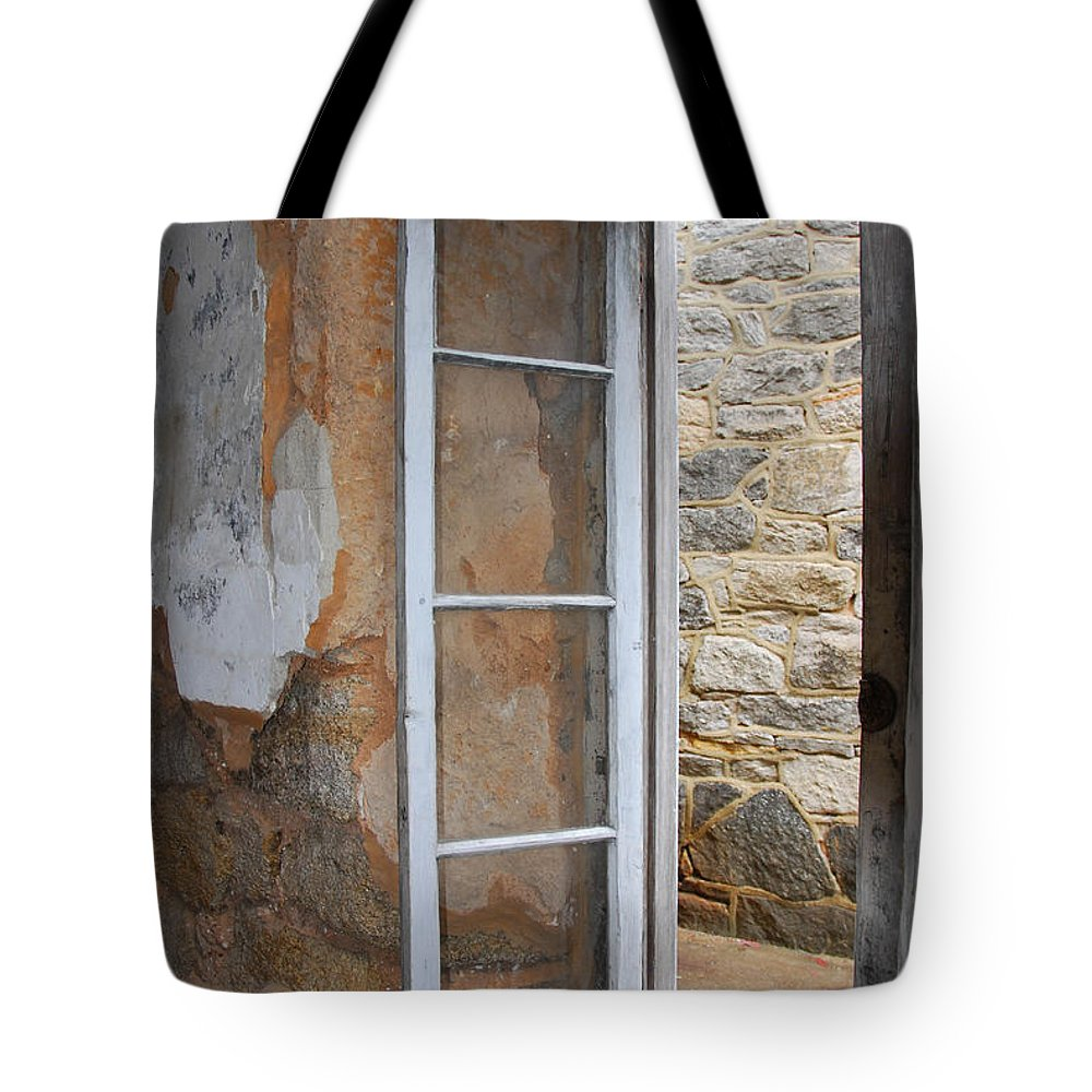 Window Tote Bag featuring the photograph Thru The Prison Window by Cindy Manero
