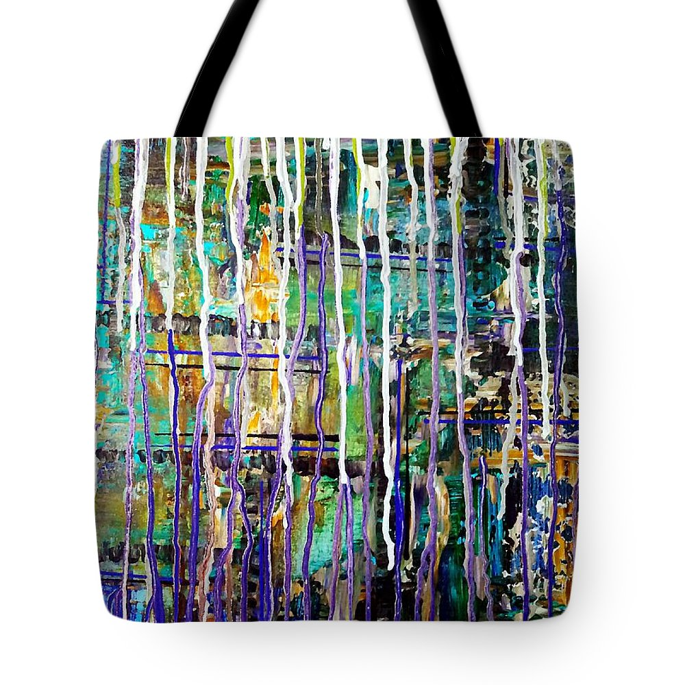 Rain Tote Bag featuring the painting Thru The Storm 2 Digital Series by Lady Ex