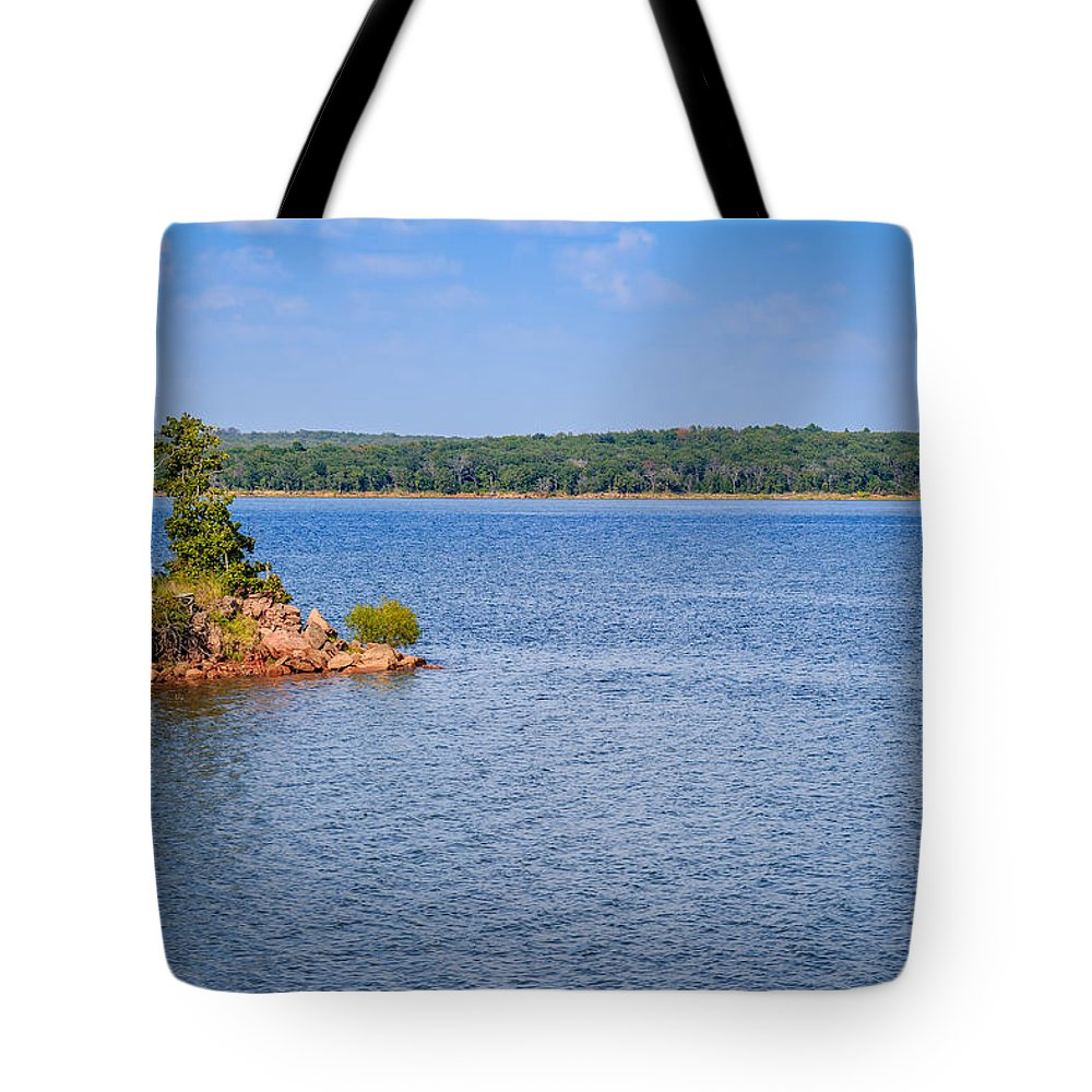 Green Tote Bag featuring the photograph Thunderbird Lake by Doug Long