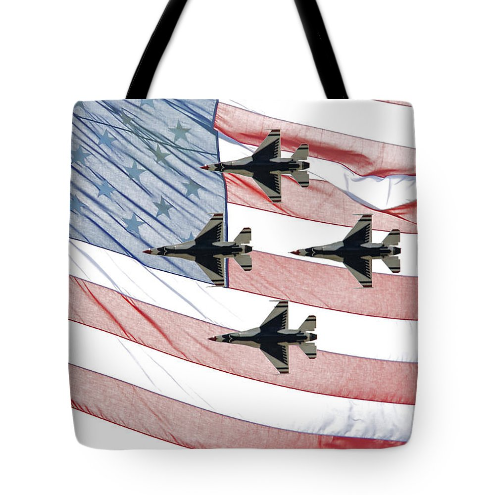Thunderbirds Tote Bag featuring the photograph Thunderbirds by Tikvah's Hope