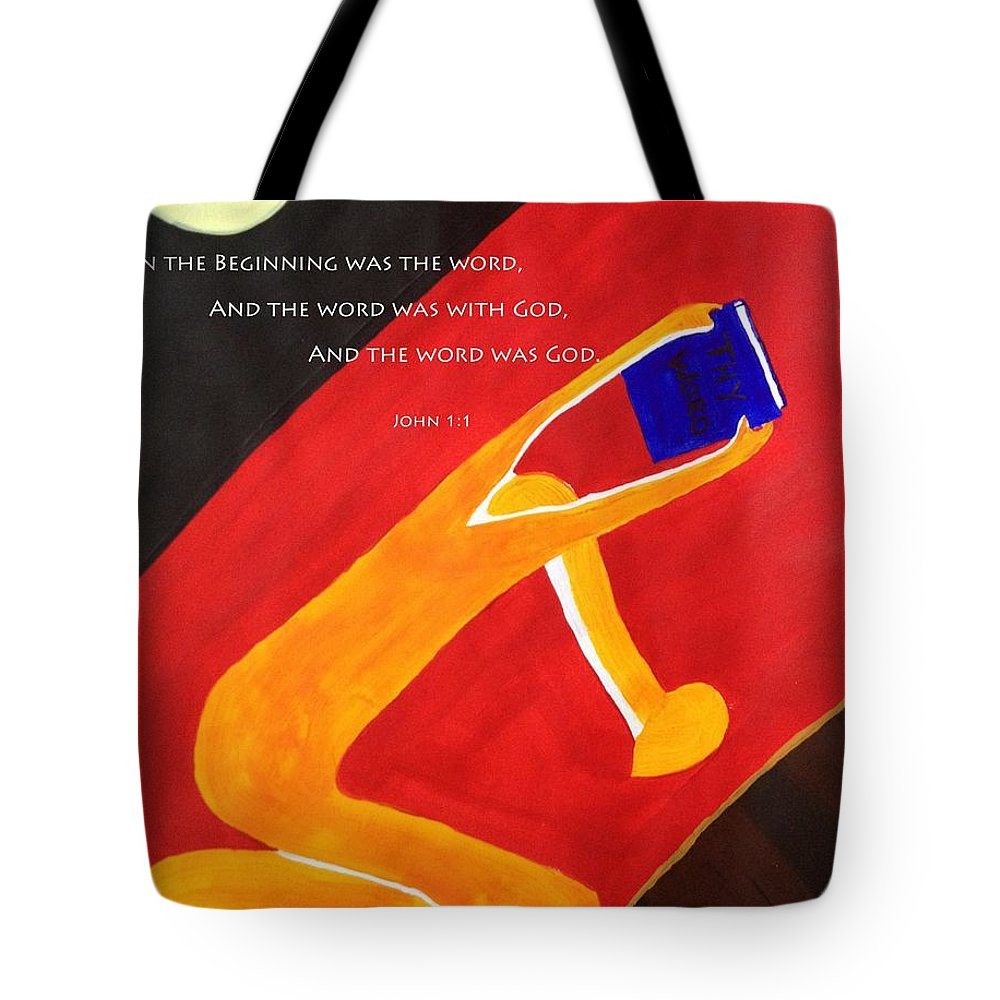 Thy Tote Bag featuring the painting Thy Word by Janele Slater
