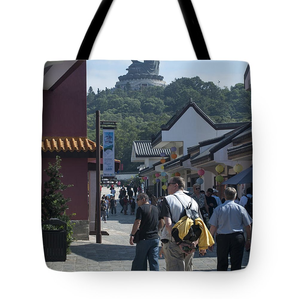 Asia Tote Bag featuring the photograph Tian Tan Buddha by David Lange