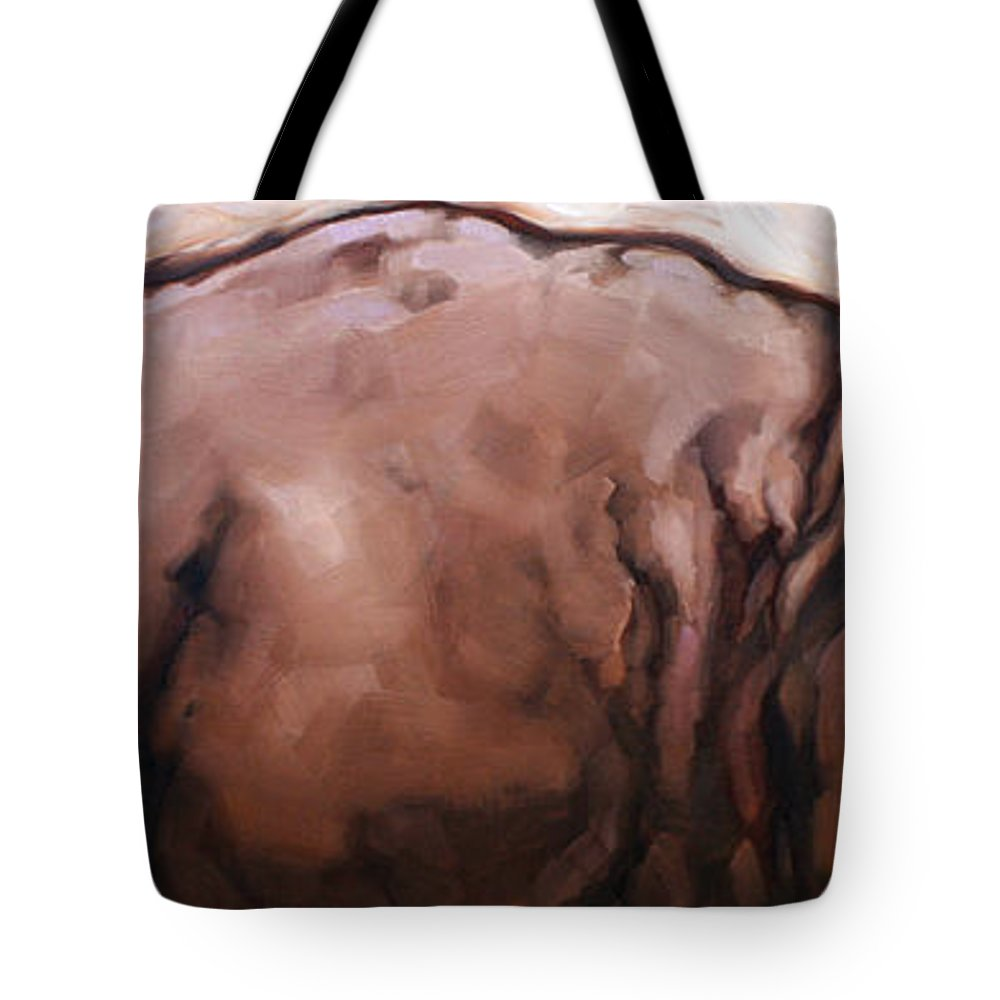 Animals Tote Bag featuring the painting Tick Bird by Carrie Cook