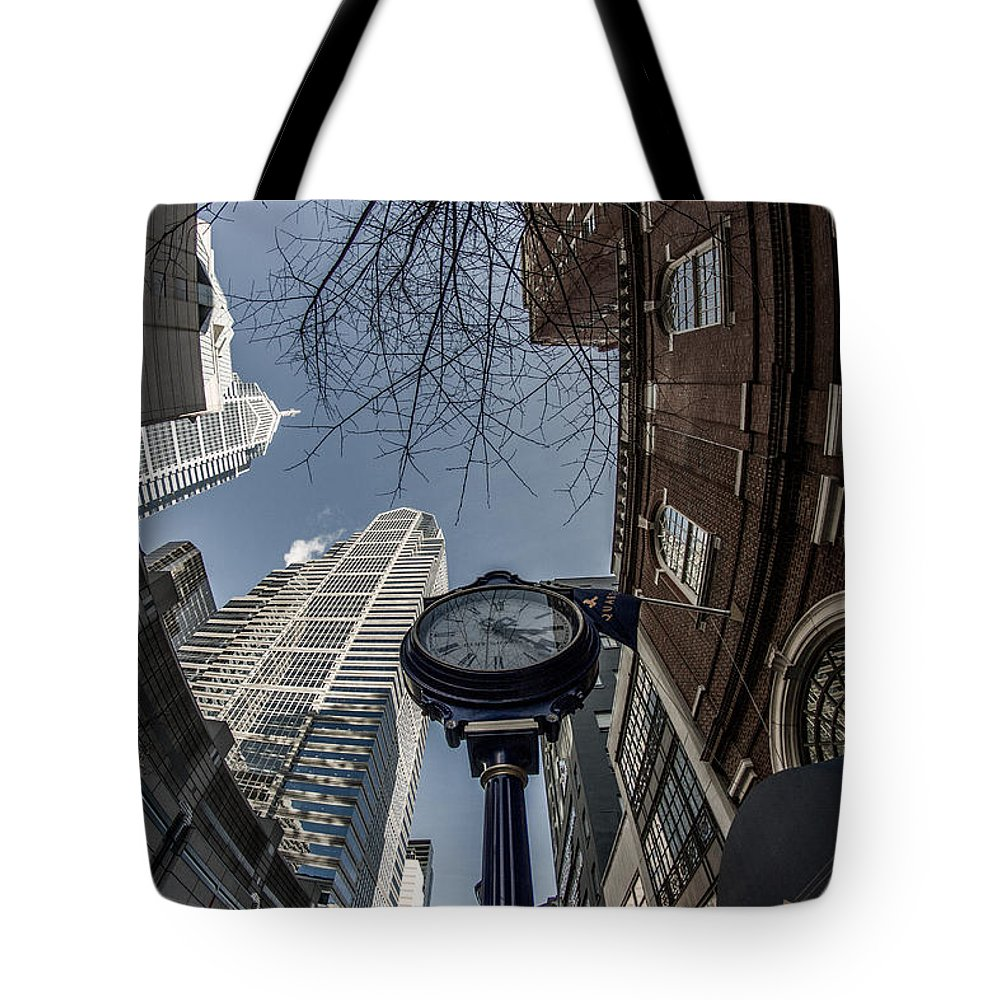 Fisheye Tote Bag featuring the photograph Tick Tock by Kathleen Odenthal
