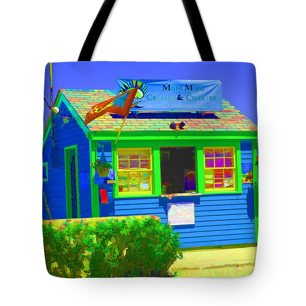 salem Willows Tote Bag featuring the photograph Ticket Shack by Barbara McDevitt