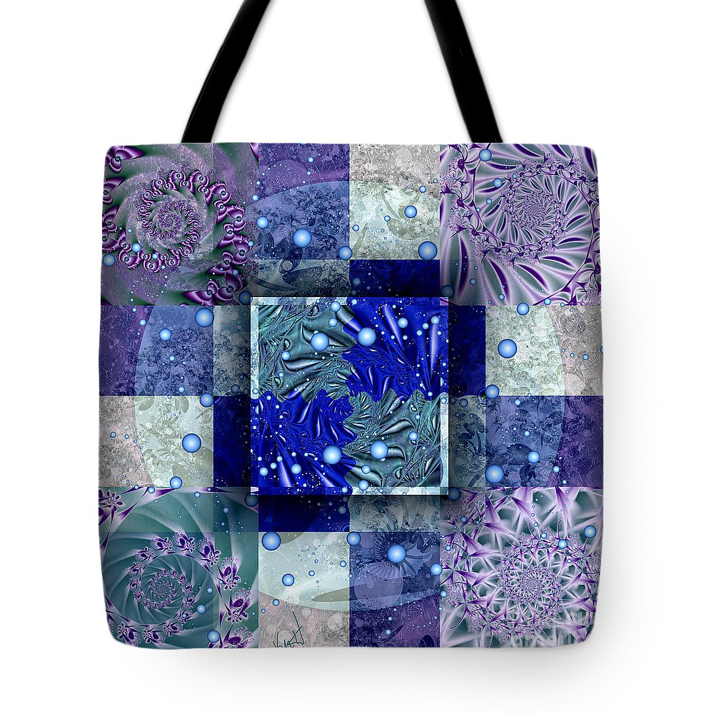 Tidepools Tote Bag featuring the digital art Tidepools by Kimberly Hansen