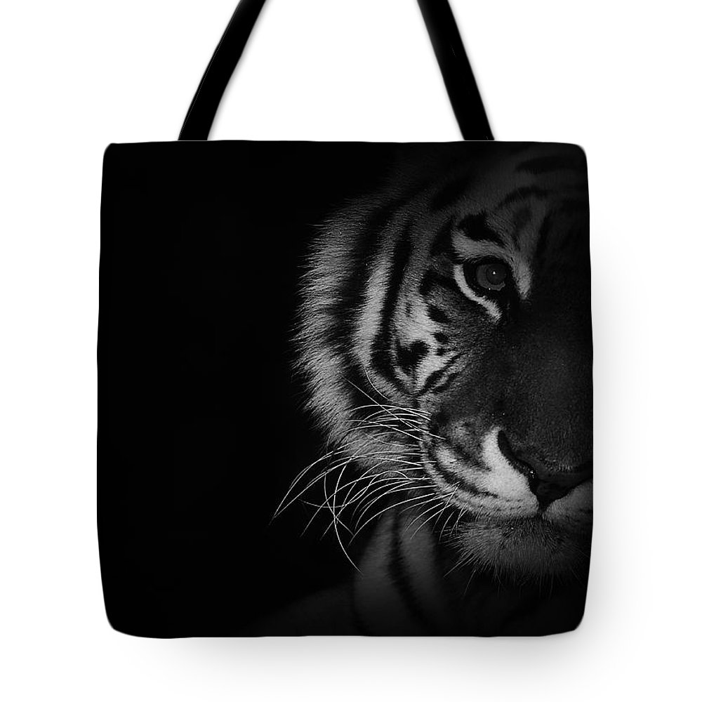 Tiger Tote Bag featuring the photograph Tiger Eyes by Martin Newman