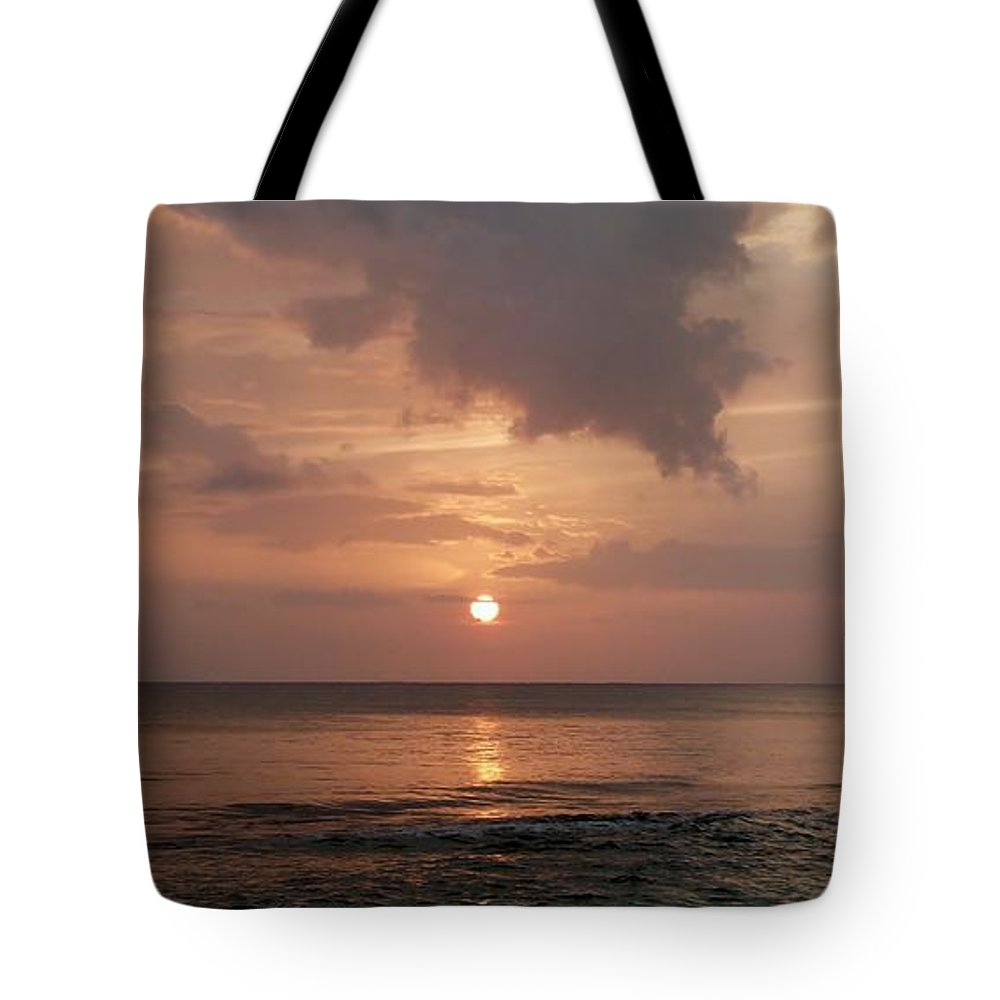 Glorious Sunset Tote Bag featuring the photograph Tiki Sunset 2 by Amar Sheow