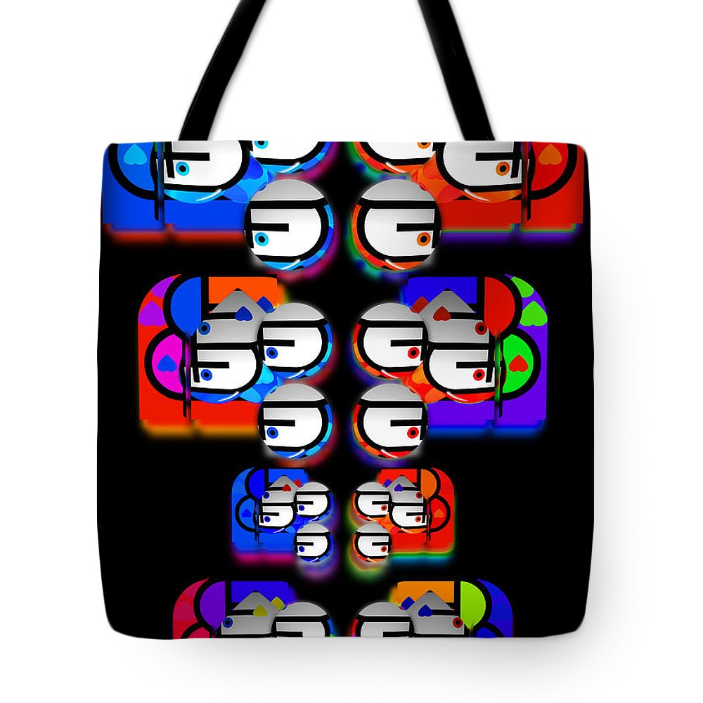 Aztec Tote Bag featuring the painting Tilmatli by Charles Stuart