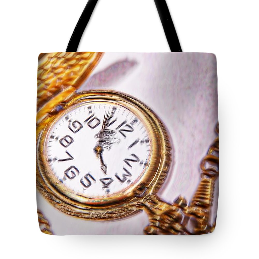Watch Tote Bag featuring the digital art Time After Time by Bob Pardue