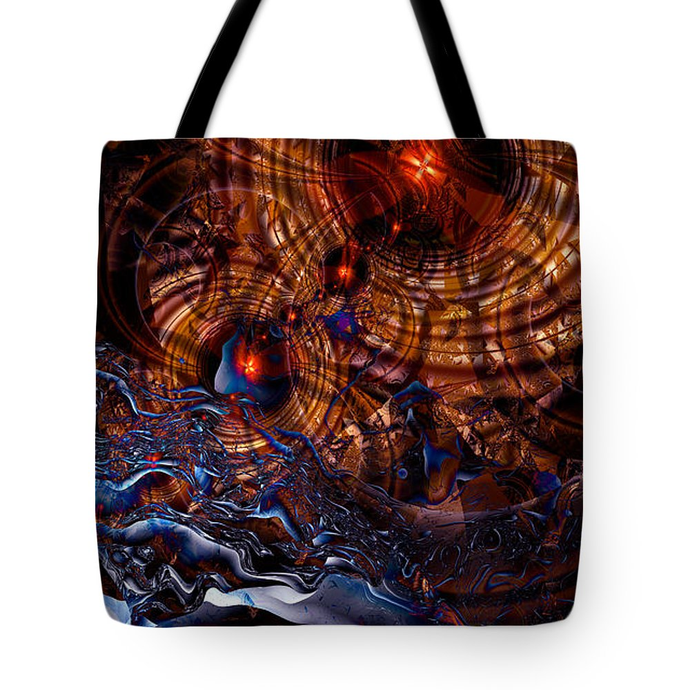 Time After Time Tote Bag featuring the digital art Time After Time by Kimberly Hansen