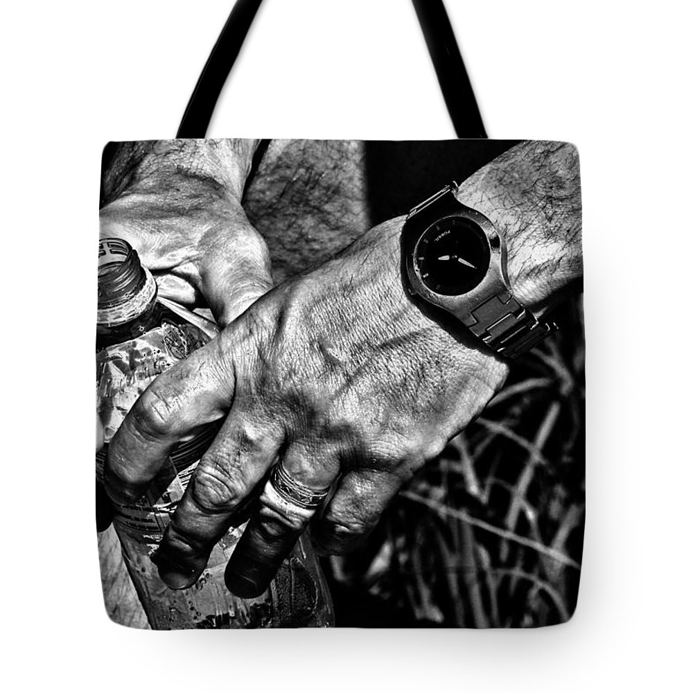 Hands Tote Bag featuring the photograph Time For A Break by Karol Livote