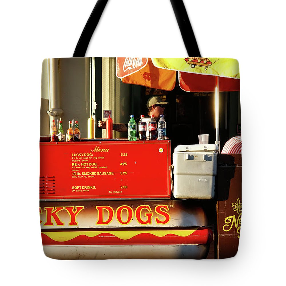 New Orleans Tote Bag featuring the photograph Time For A Lucky Dog by KG Thienemann