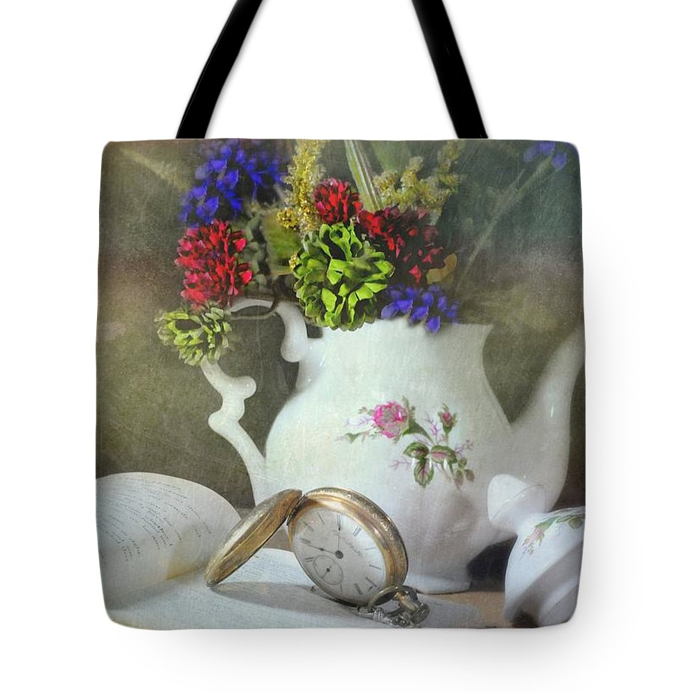 Still Life Tote Bag featuring the photograph Time In A Pocket by Diana Angstadt
