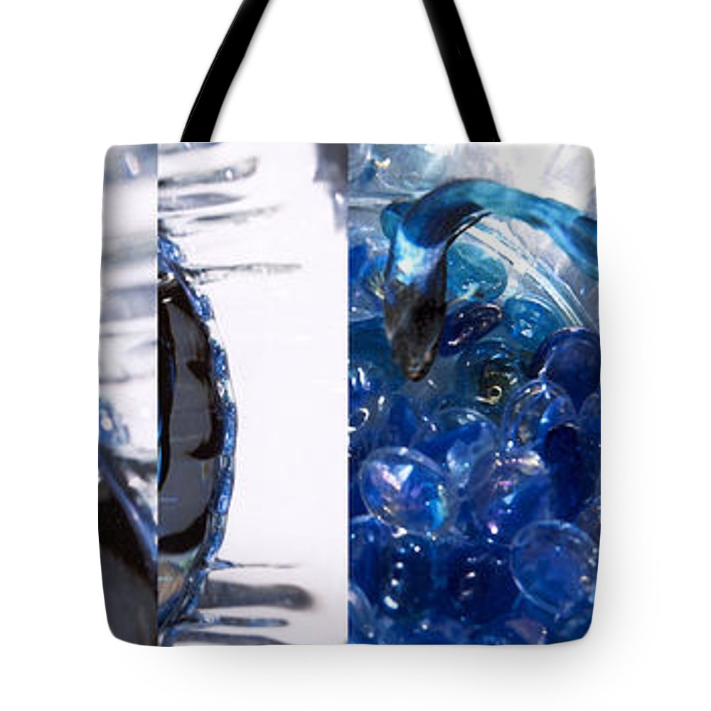 Abstract Tote Bag featuring the photograph Time Line in Blue by Steve Karol