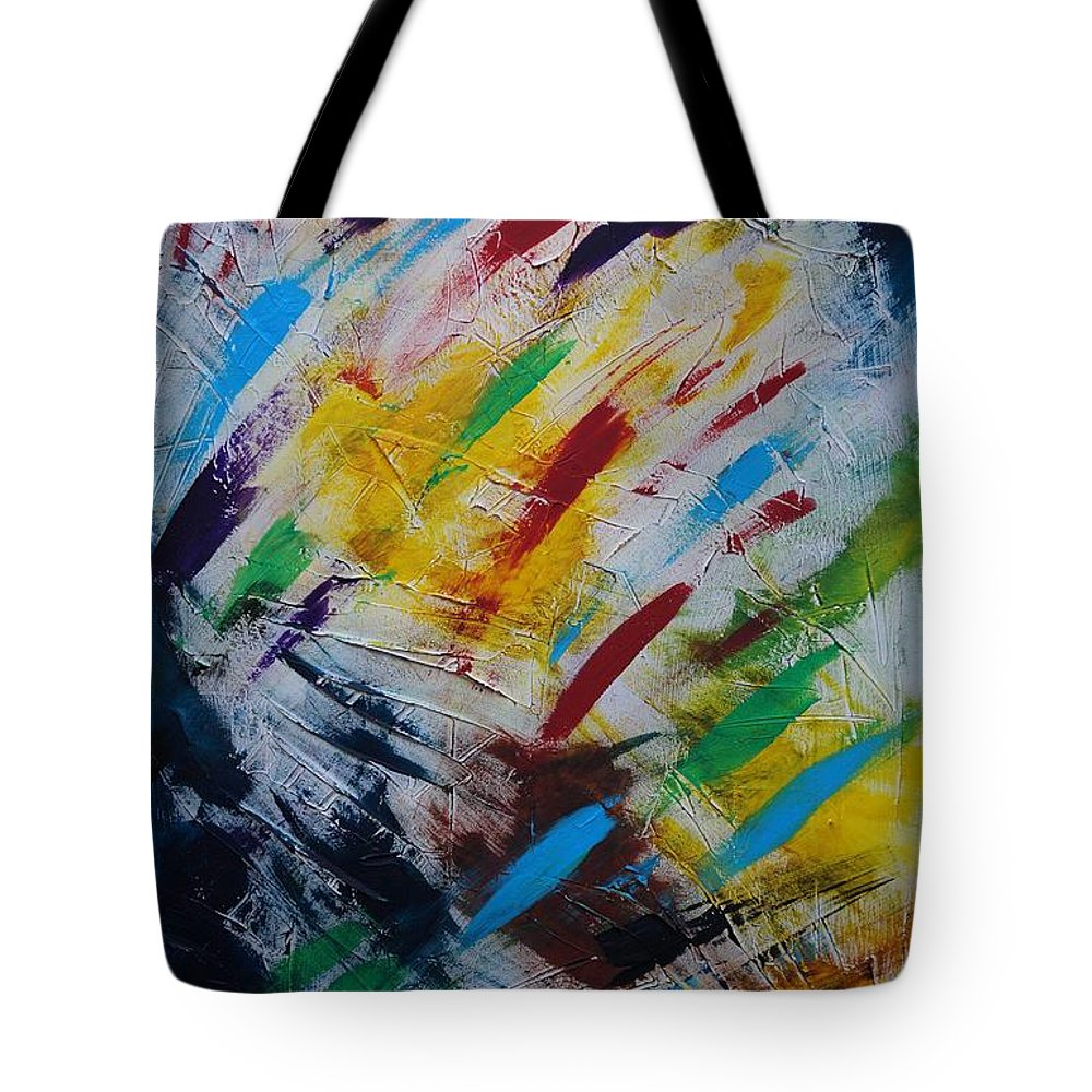 Abstract Tote Bag featuring the painting Time stands still by Sergey Bezhinets