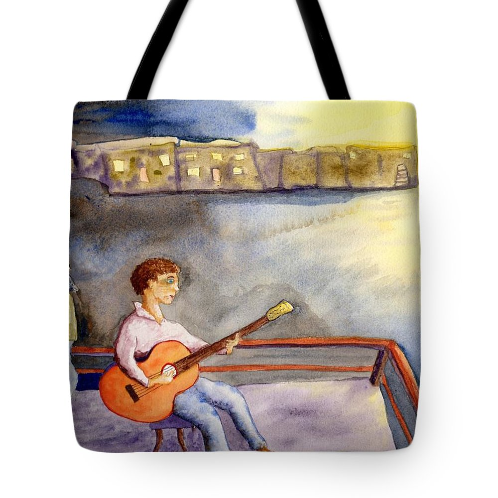 Jim Taylor Tote Bag featuring the painting Time To Go In by Jim Taylor