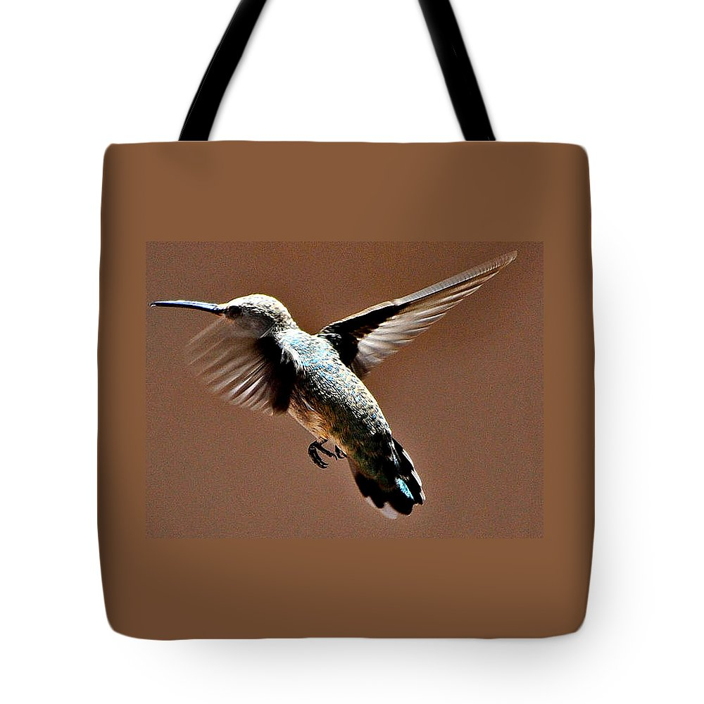 Hummingbird Tote Bag featuring the photograph Time To Leave by Jay Milo