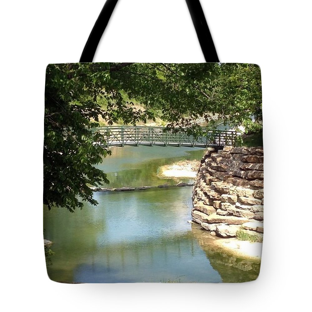Peaceful Tote Bag featuring the photograph Time To Reflect by Jackie Austin