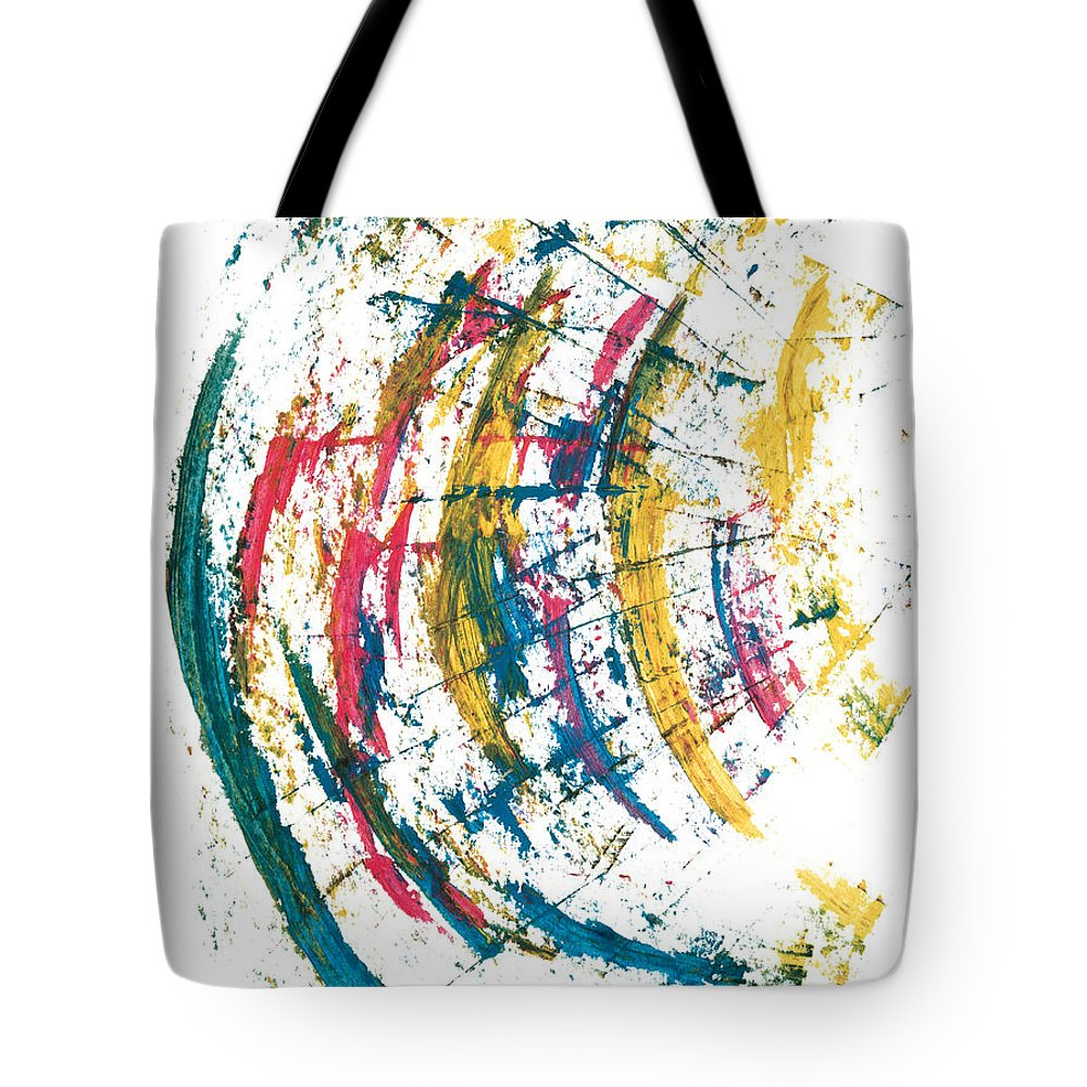 Contemporary Tote Bag featuring the painting Time Travel by Bjorn Sjogren