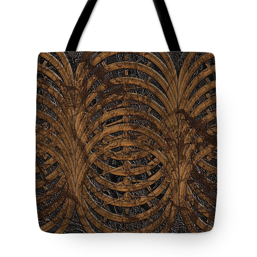 Time Tote Bag featuring the digital art Timed Out by Michael Hurwitz
