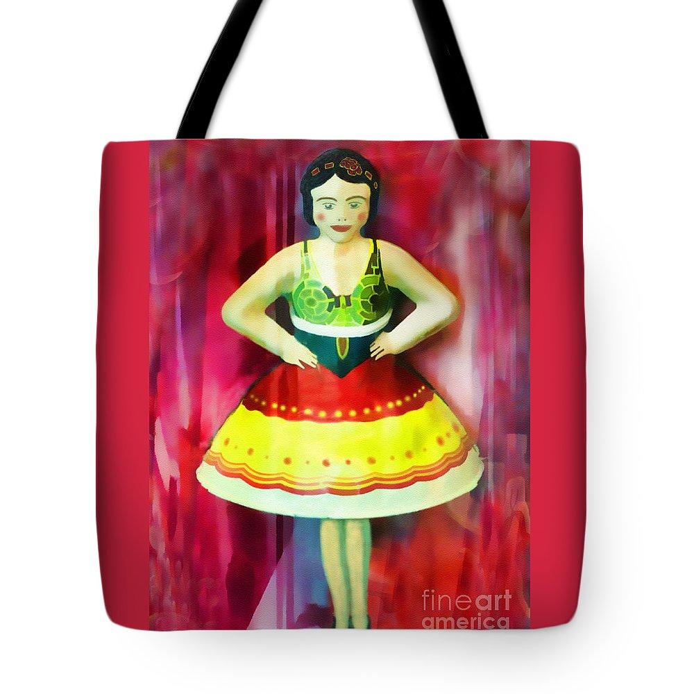 Dancer Tote Bag featuring the digital art Tin Toy Ballerina by Grigorios Moraitis