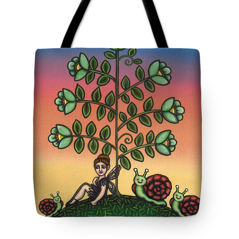 Fairy Tote Bag featuring the painting Tinas Family by Victoria De Almeida