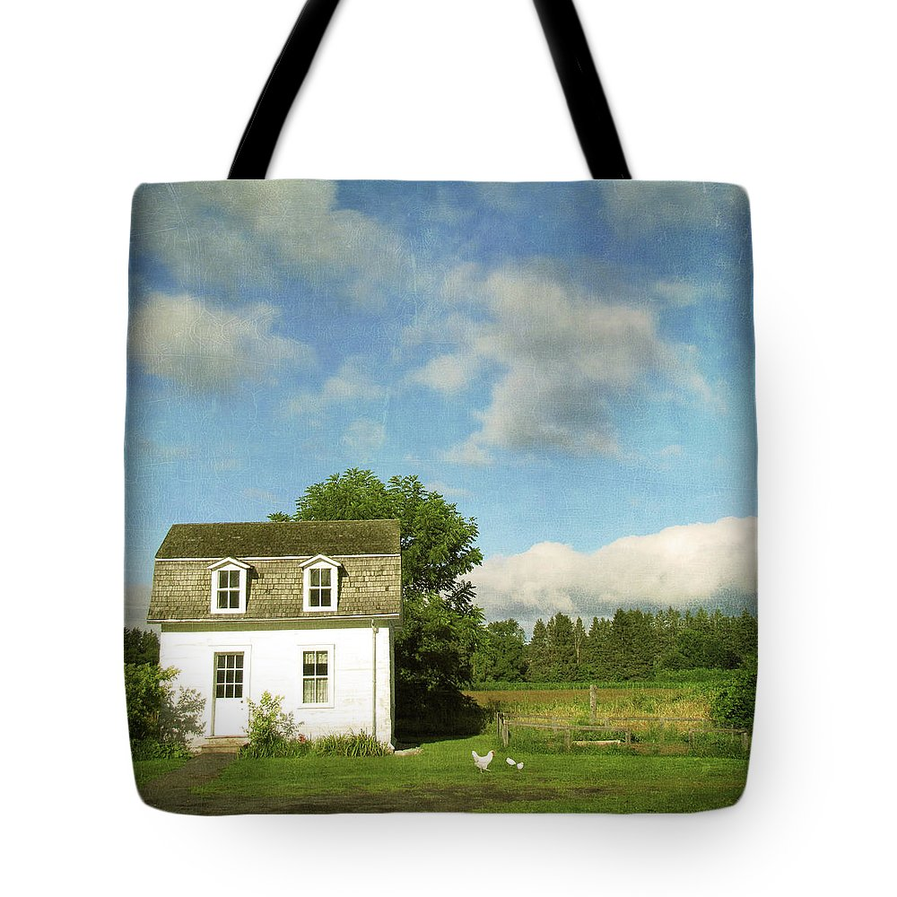 Tranquility Tote Bag featuring the photograph Tiny Country House by Francois Dion