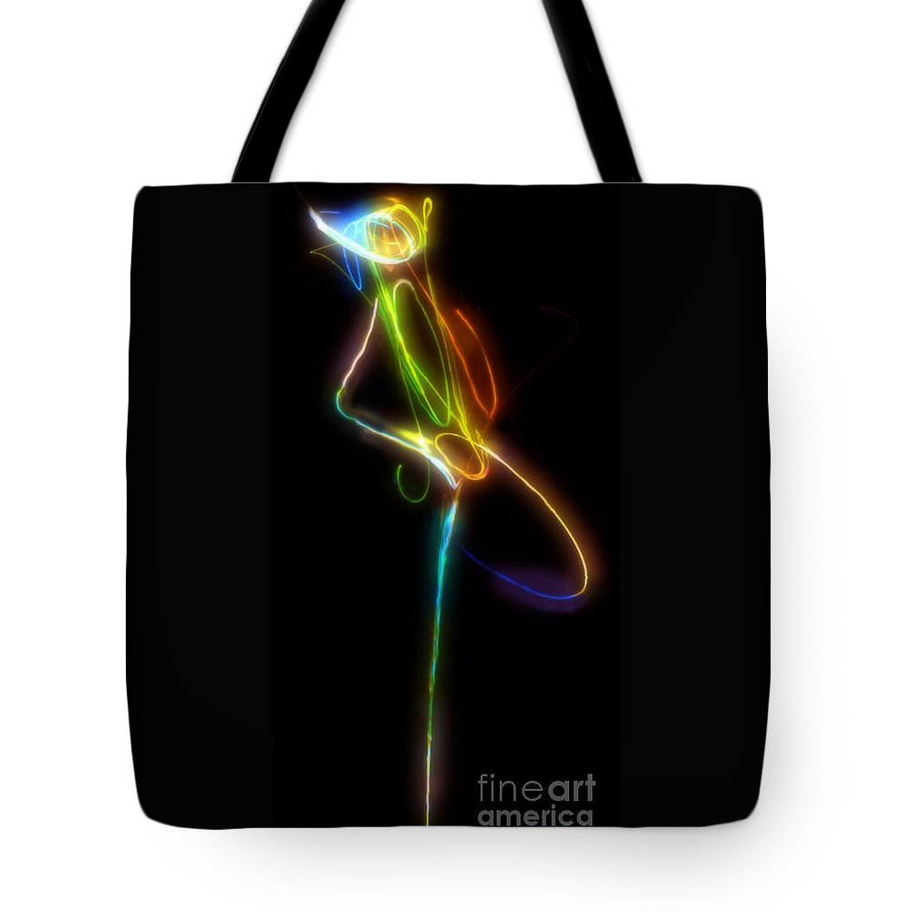 Abstract Tote Bag featuring the digital art Tiny Dancer by RC DeWinter