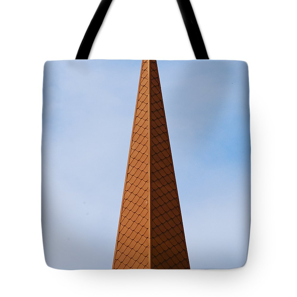 Madison Tote Bag featuring the photograph Tip Of The Tall Steeple by Christi Kraft