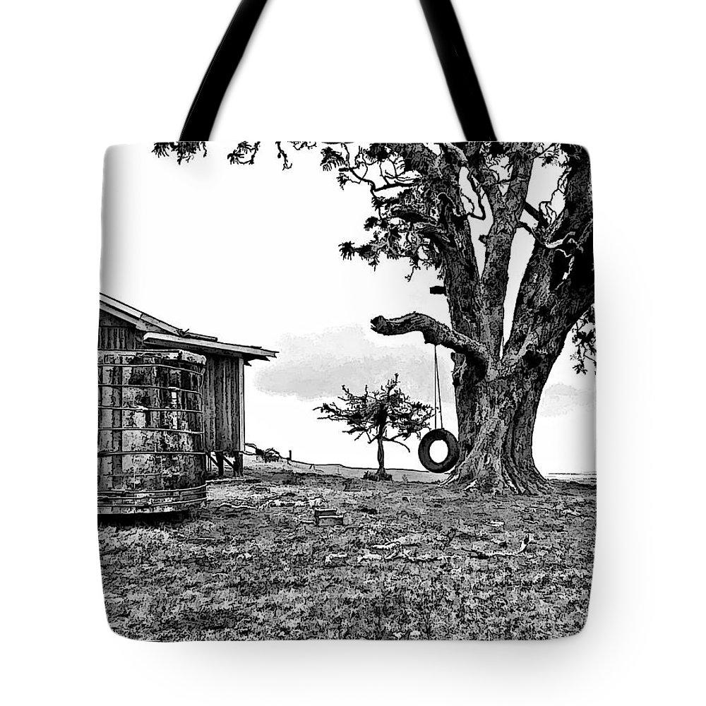 Dan Sabin Tote Bag featuring the photograph Tire Swing by Dan Sabin