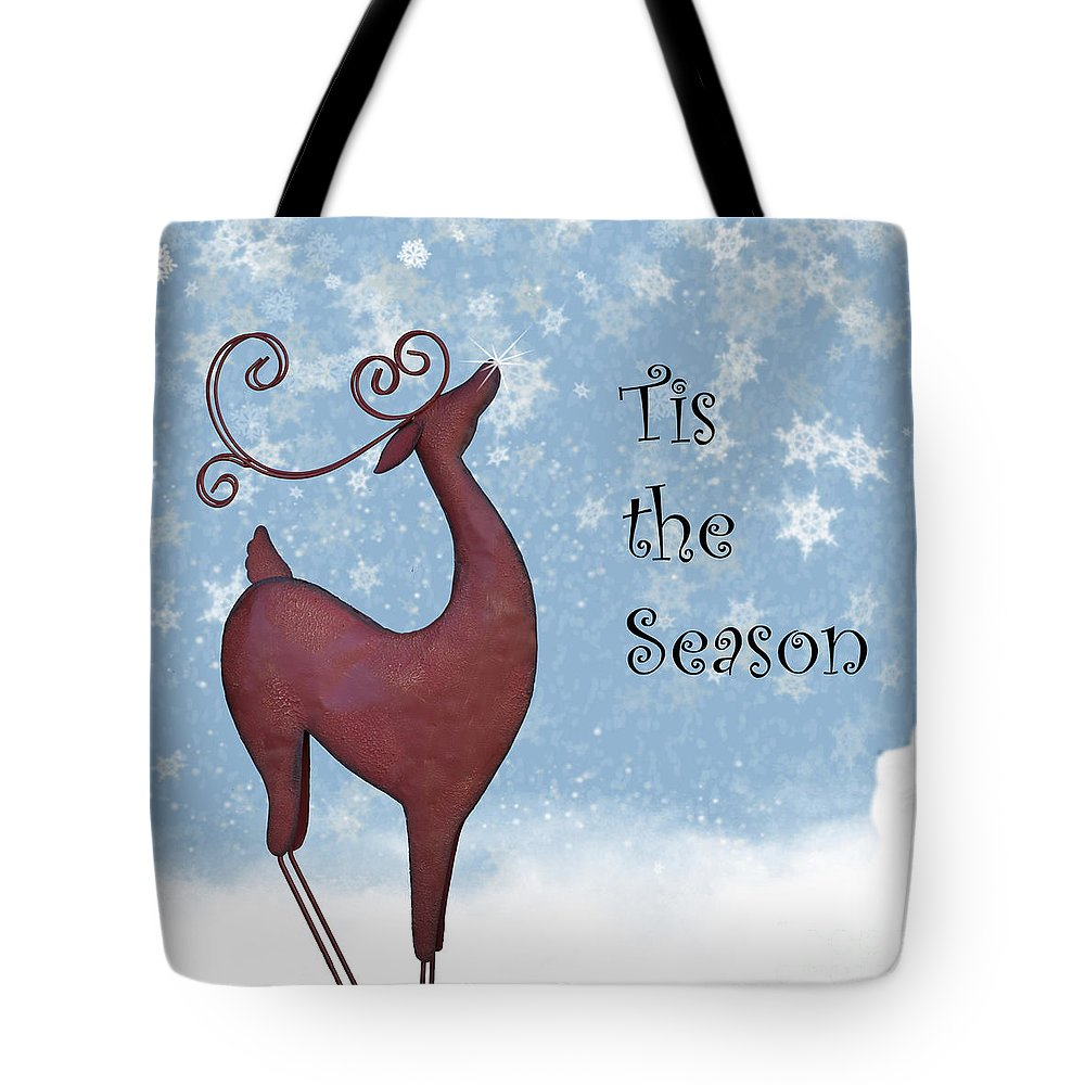 Reindeer Tote Bag featuring the photograph Tis The Season by Juli Scalzi