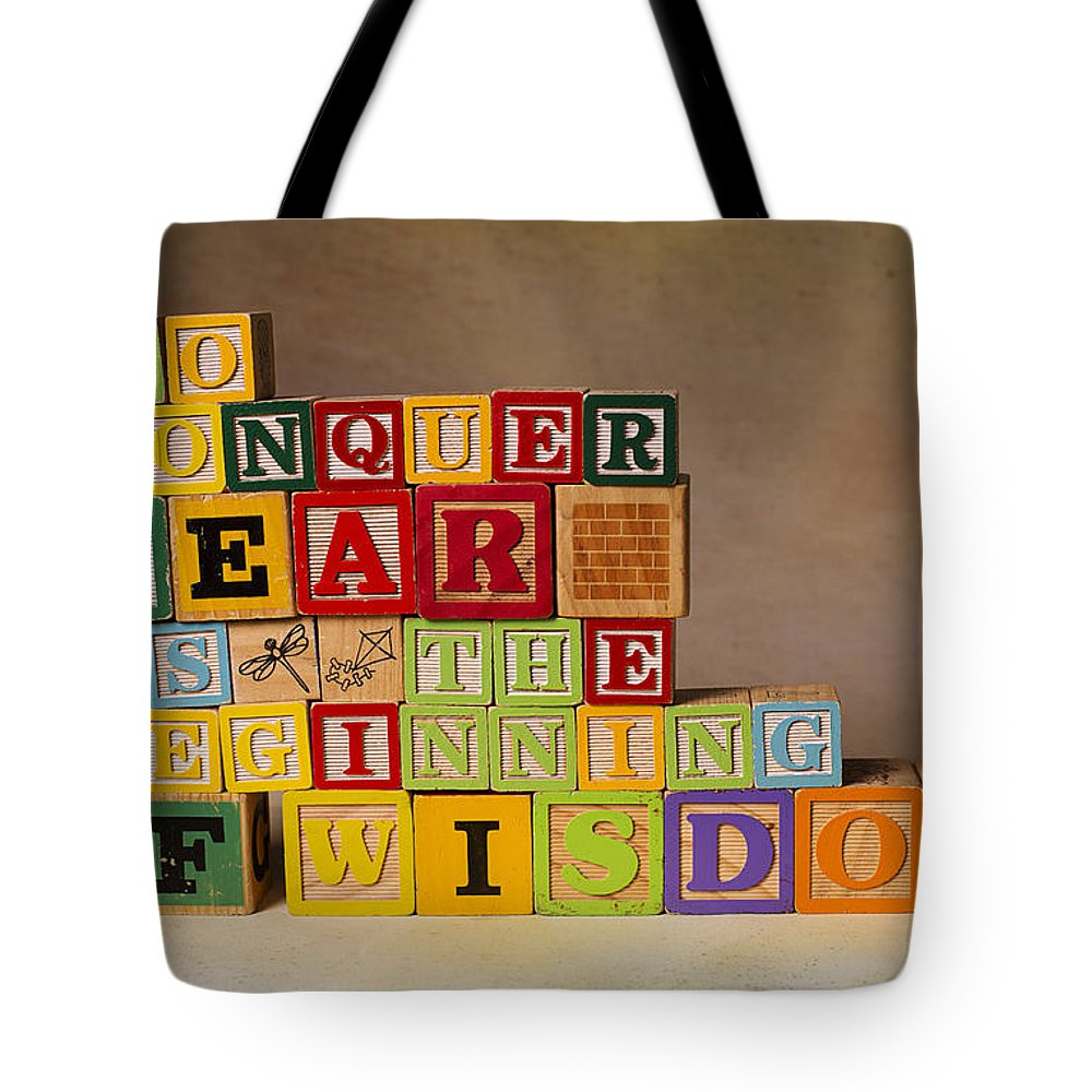 To Conquer Fear Is The Beginning Of Wisdom Tote Bag featuring the photograph To Conquer Fear Is The Beginning Of Wisdom by Art Whitton