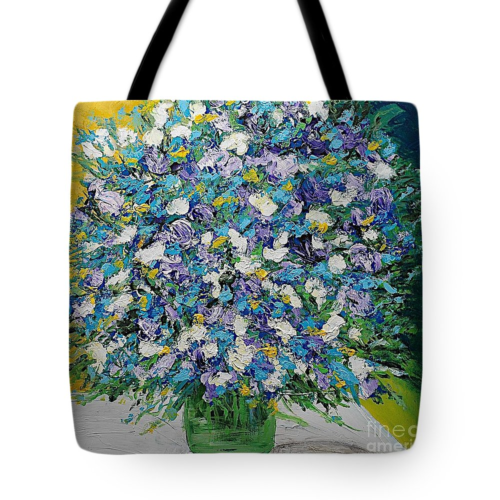 Landscape Tote Bag featuring the painting To Have And Delight by Allan P Friedlander