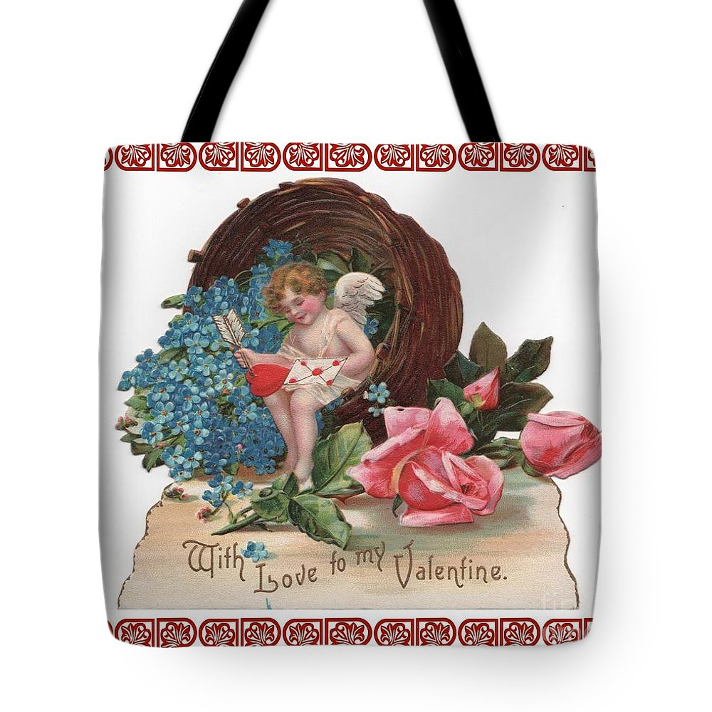 Antique Valentine Tote Bag featuring the photograph To My Valentine by Nancy Patterson