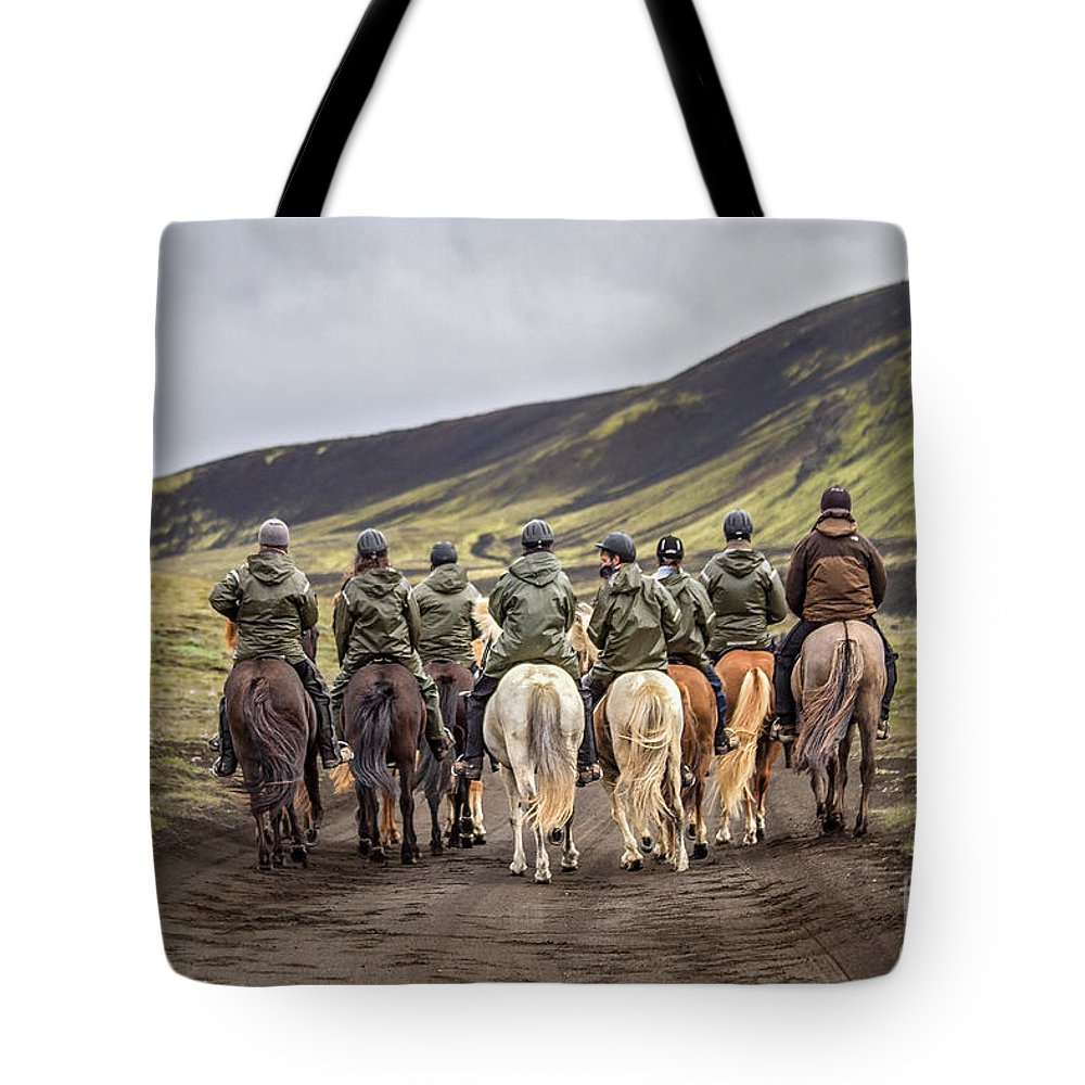 Landmannalaugar Tote Bag featuring the photograph To Ride The Paths Of Legions Unknown by Evelina Kremsdorf