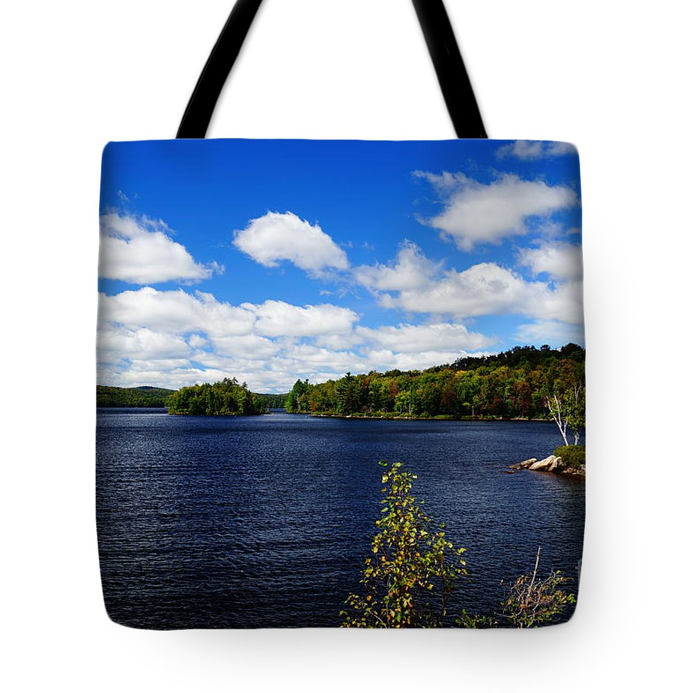 Lakes Tote Bag featuring the photograph To The Island And Back by Jeffery L Bowers
