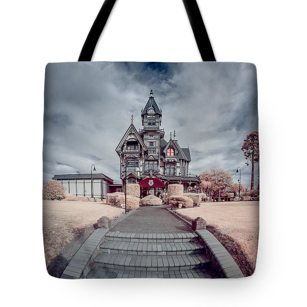 Infrared Tote Bag featuring the photograph To The Mansion by Greg Nyquist