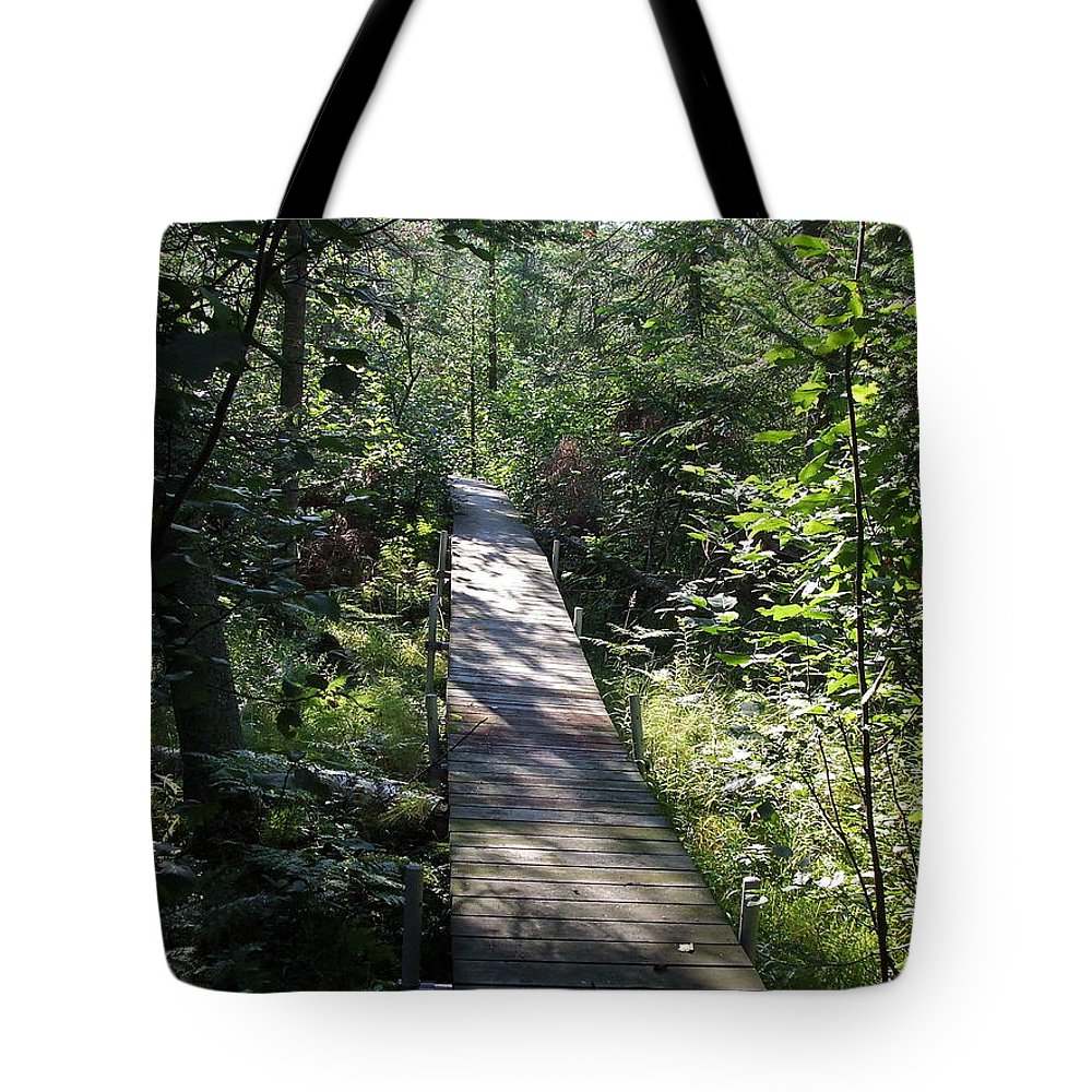 Little Tote Bag featuring the photograph To The Trout Stream by Susan Wyman
